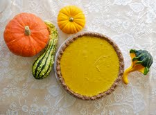 seyward's raw pumpkin pie!